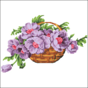 1920s Basket of flowers