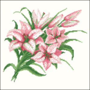 1920s pink tiger lilies
