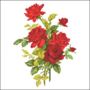 French Rose Spray Red