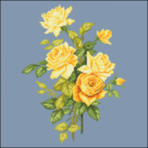 French Rose Spray Yellow