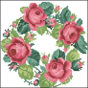 Heinrich Keuhn Wreath of Roses