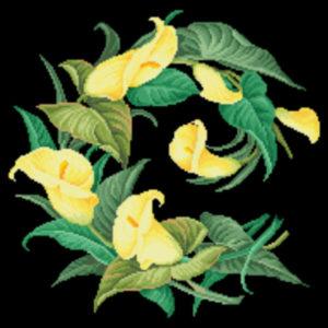 Hertz & Wegener Calla Lily Wreath yellow