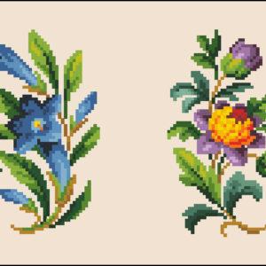 M Levy Floral Pair 1