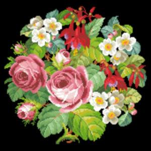 Roses and Fuschia Round