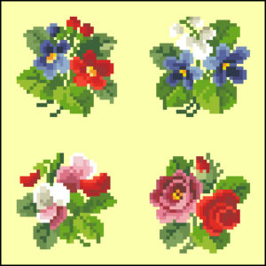 Set of Four Small Bouquets